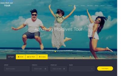 HTML5/CSS3响应式灰色白色旅游网站模板