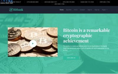 高端bootstrap湖水绿色白色金融投资网站模板