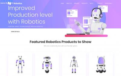 精品bootstrap深绿色白色AI机器人网站模板