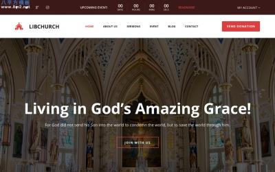 bootstrapHTML5/CSS3白色米色教堂网站模板