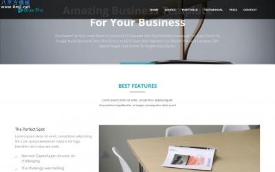 开源高端湖水绿色灰色商务企业网站模板